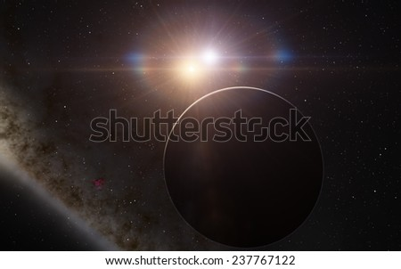 Fantastic planet - stock photo