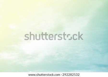 fantastic soft cloud and sky abstract background with pastel gradient color - stock photo