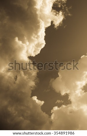 Fantastic soft white clouds against sky