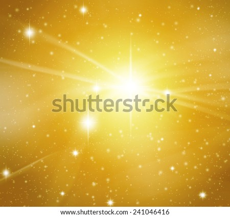 Fantastic star background with flashing of light and wave. - stock photo