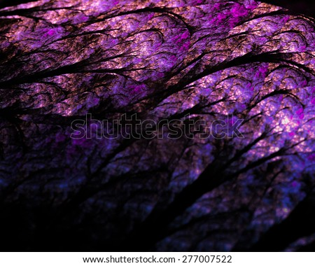 Fantastic unusual abstract background  in rich  lilac colors with luminous reflections. Texture sometimes blurred - stock photo