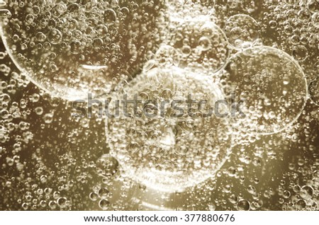 fantasy abstract oily bubbles on water surface