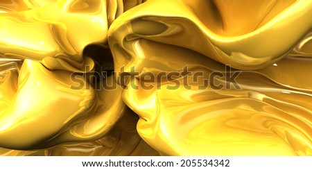 fantasy cloth golden  background. - stock photo