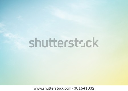 fantasy cloud and sky with gradient color - stock photo