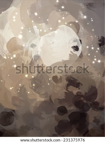 Fantasy clouds brush stroke paint. Abstract illustration. - stock photo