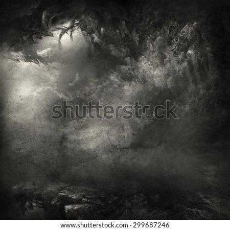 Fantasy grunge background - stock photo