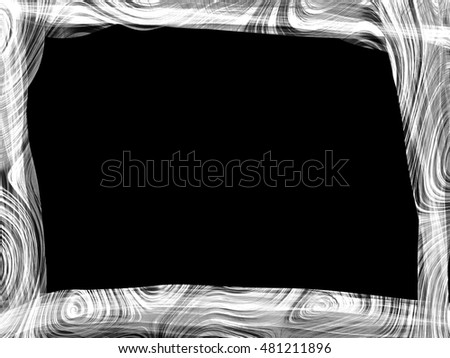 fantasy line weave  abstract frame gradient monochrome grey