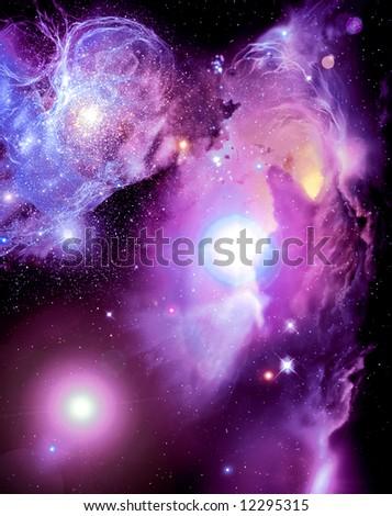 Fantasy Nebula - stock photo