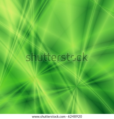 Fantasy rays on green background - stock photo