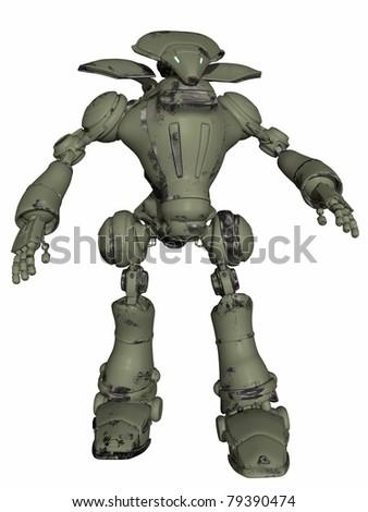 Fantasy Robot - stock photo