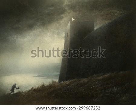 Fantasy scene - stock photo