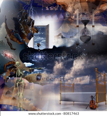 Fantasy Sleep Composition - stock photo