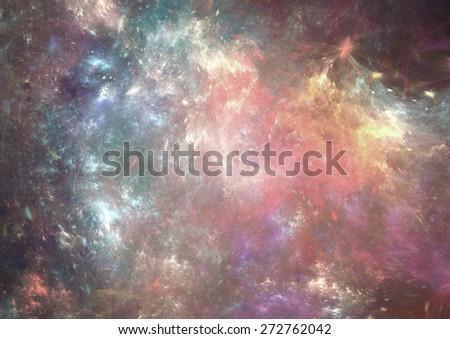 Fantasy space background, Cool grunge nebula - stock photo