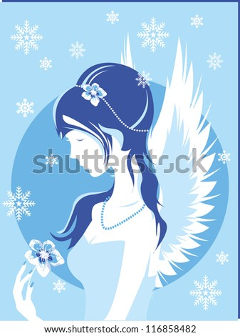 fantasy winter girl