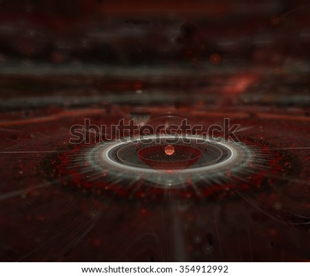 Fantasy world in space graphic - stock photo