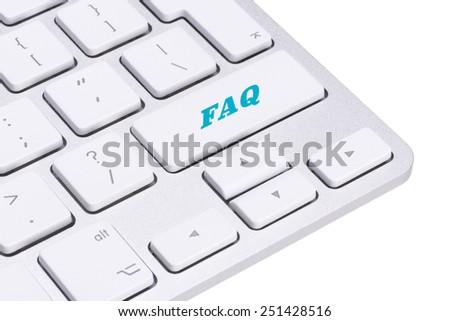 FAQ button on keyboard  - stock photo