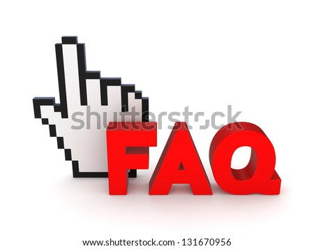 FAQ concept.Isolated on white background.3d rendered. - stock photo