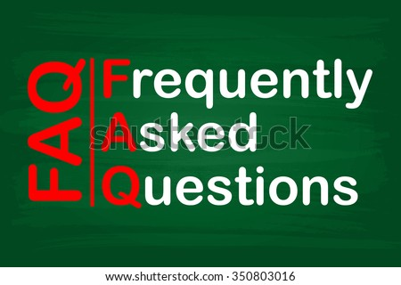 FAQ : Frequently Asked Questions - stock photo