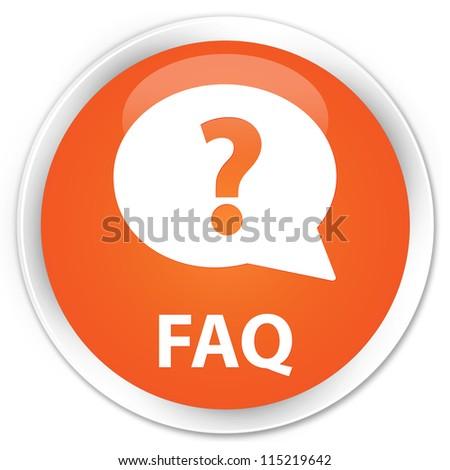 Faq orange button - stock photo