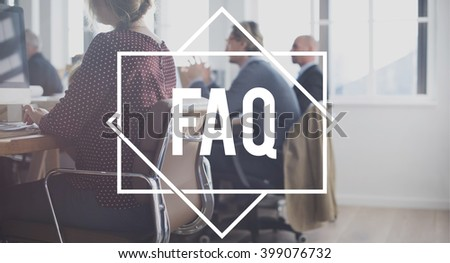 FAQ Question Information Frequently Asked Question Concept - stock photo