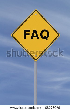 FAQ road sign against a blue sky background - stock photo