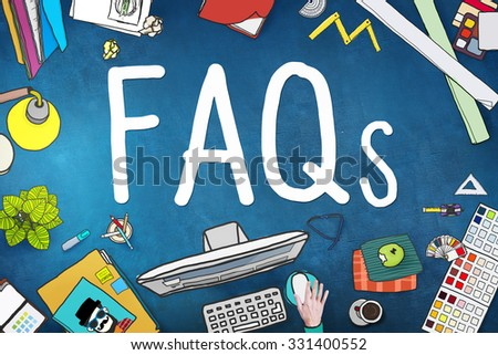 FAQS Frequently Asked Questions Information Concept - stock photo