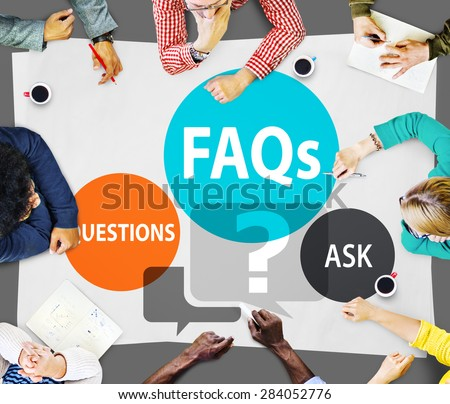 FAQs Frequently Asked Questions Solution Concept - stock photo