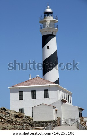 Far de Favaritx, lighthouse in Minorca, Balearic islands, Spain