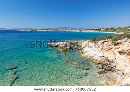 Farangas beach in Paros island, Greece