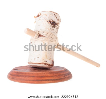 Farcical Judge Mallet and Imitation of the Soundboard - stock photo