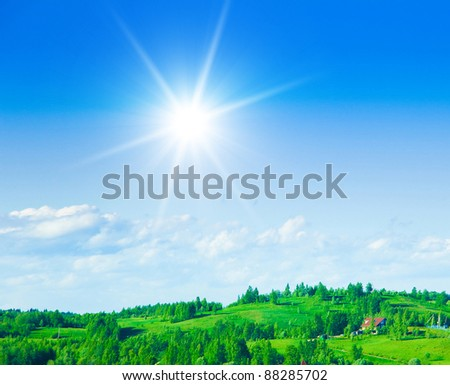 Farm Area Forests and Fields - stock photo