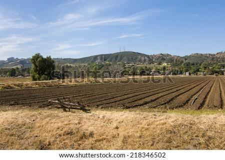Farm field in Camarillo, California - stock photo