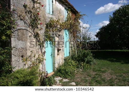 Farm house architecture in France - stock photo