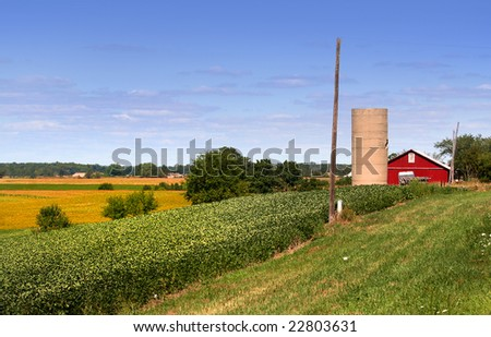 Farm Lands - stock photo