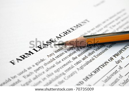 Farm lease agreement - stock photo