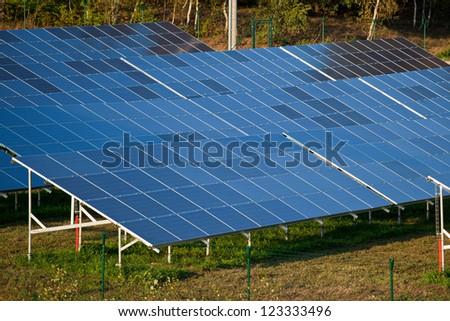 Farm of eco electric energy - stock photo