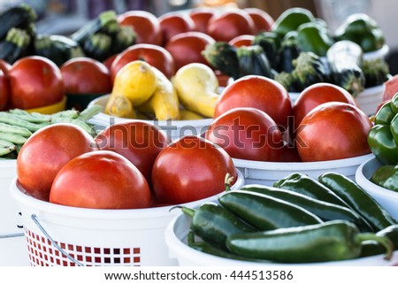 Farm to table vegetables for sale at farmers market in Asheville North Carolina