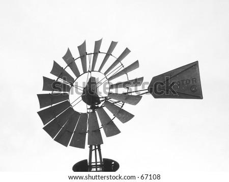 Farm Windmill - stock photo