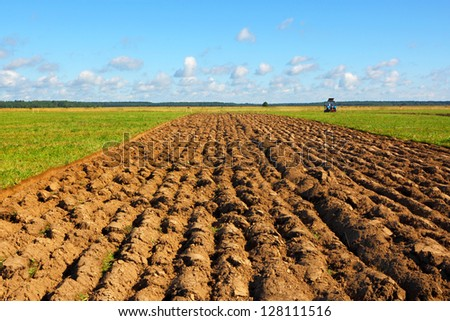 Farmer field - stock photo