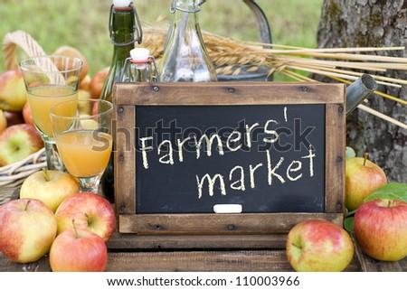 Farmers' market - stock photo