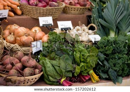 Farmers Market Organic Produce - stock photo