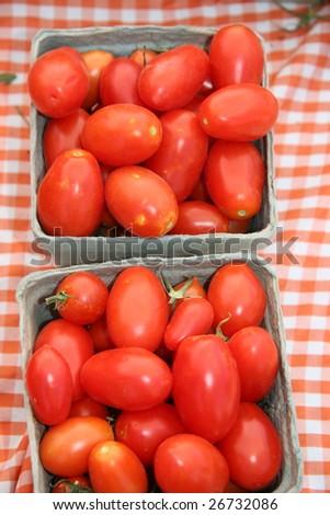 Farmers Market Tomatoes - stock photo
