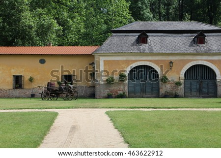 Farming building, castle Milotice, Moravia, Czech republic