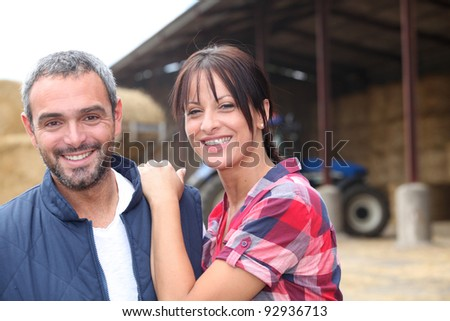 Farming couple - stock photo