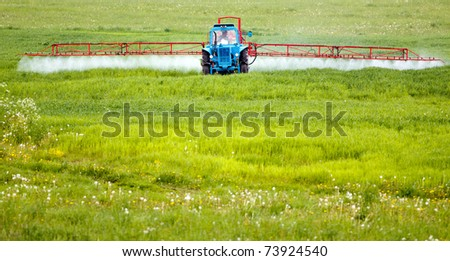 Farming tractor - stock photo