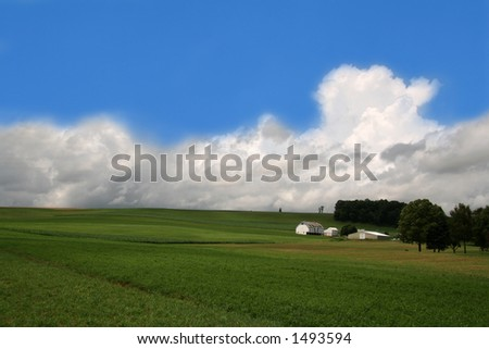 Farmland Hills - 2 - stock photo