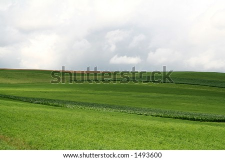Farmland Hills - 8 - stock photo