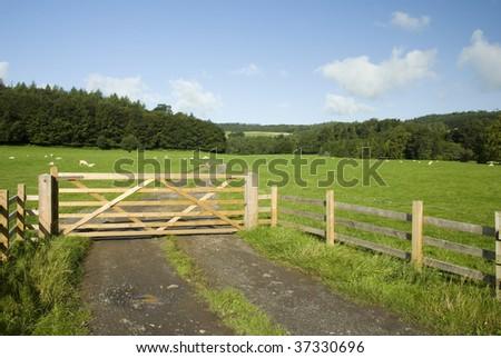 Farmland, Lake District National Park, UK - stock photo