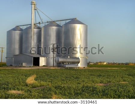Farmland Silos In Arizona