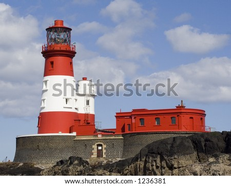 Farne Islands, UK. Home to famous Northumbrian heroine Grace Darling in the 1800's. - stock photo